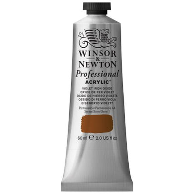 Winsor & Newton Professional Acrylic Color Paint, 60ml Tube, Violet Iron Oxide