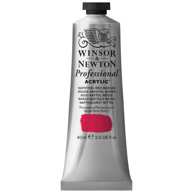 Winsor & Newton Professional Acrylic Color Paint, 60ml Tube, Naphthol Red Medium