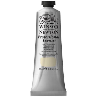 Winsor & Newton Professional Acrylic Color Paint, 60ml Tube, Buff Titanium