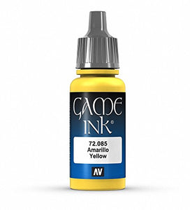 Vallejo Game Color Yellow Ink Paint, 17ml