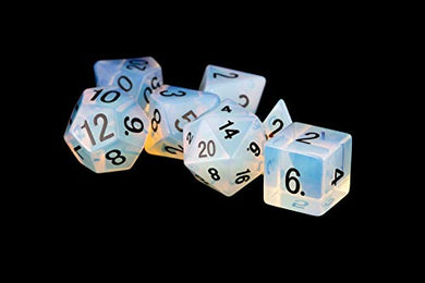 MDG Opalite: Full-Sized 16mm Polyhedral Dice Set