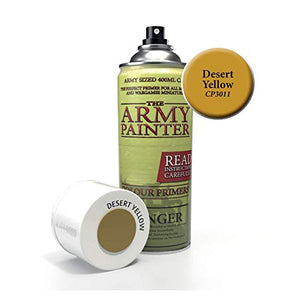 The Army Painter Primer Desert Yellow 400ml Acrylic Spray for Miniature Painting