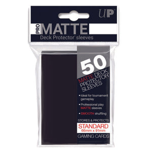 Ultrapro Pro Matte Black Non-Glare Deck Protectors (Regular Size- 50 Ct)