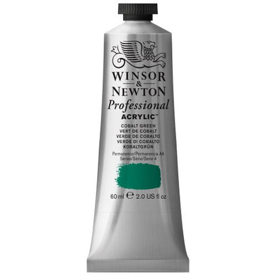Winsor & Newton Professional Acrylic Color Paint, 60ml Tube, Cobalt Green