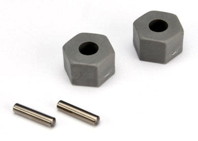 Traxxas 3654 Hex Wheel Hubs with 2.5 x 10mm Axle Pins (pair)