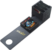 Load image into Gallery viewer, Keyforge Vault: Black 3 Deck Deck Box Optimized for Double Sleeved Cards