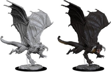 Dungeons and Dragons: Nolzur's Miniatures Young Black Dragon