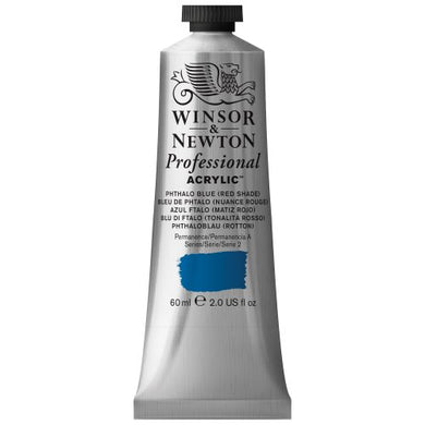 Winsor & Newton Professional Acrylic Color Paint, 60ml Tube, Phthalo Blue Red Shade