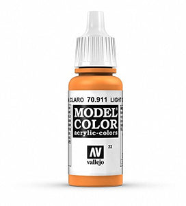 Vallejo Model Color Acrylic Paint, Light Orange 17ml