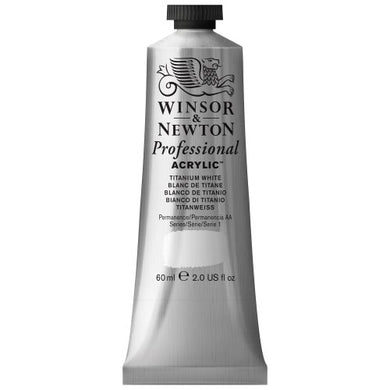 Winsor & Newton Professional Acrylic Color Paint, 60ml Tube, Titanium White