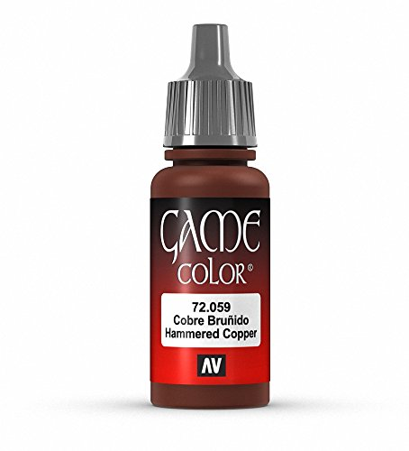 Vallejo Game Color Hammered Copper Paint, 17ml