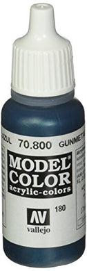 Vallejo Model Color Gunmetal Blue Paint, 17ml
