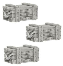 Load image into Gallery viewer, WizKids Deep Cuts Unpainted Miniatures: Crates WZK73090
