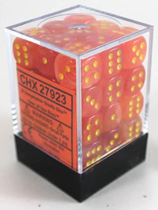 Chessex 27923 Ghostly Glow: 12mm D6 Orange/Yellow (36)