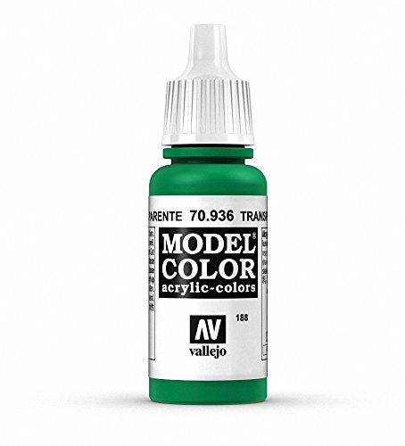 Vallejo Model Color Transparent Green Paint, 17ml