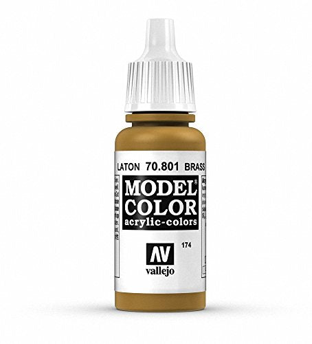 Vallejo Model Color Brass Paint, 17ml