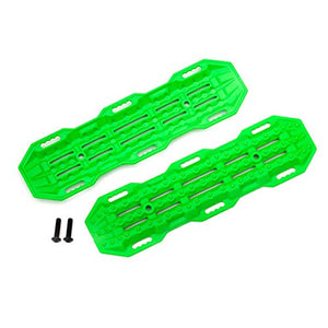 Traxxas 8121G Traction Boards, Green/ Mounting Hardware
