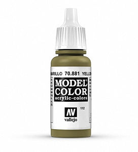 Vallejo Model Color Yellow Green Paint, 17ml
