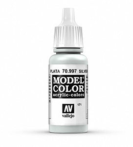 Vallejo Silver Model Color Paint, 17ml