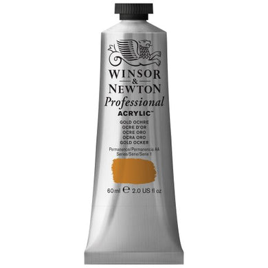 Winsor & Newton Professional Acrylic Color Paint, 60ml Tube, Gold Ochre