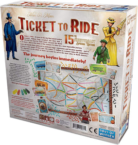 Days of Wonder Ticket to Ride Us 15th Anniversary Edition