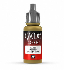Vallejo Game Color Desert Yellow Paint, 17ml