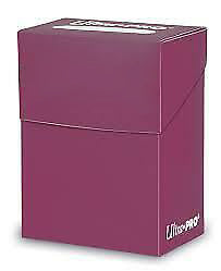 Ultra Pro Deck Box Plum Card Holder for Standard & Small CCG MTG Gaming