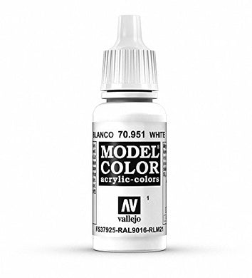 Vallejo White Model Color paint, 17ml
