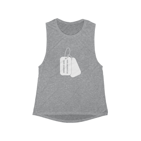 Women's Muscle Tank - Dog Tags