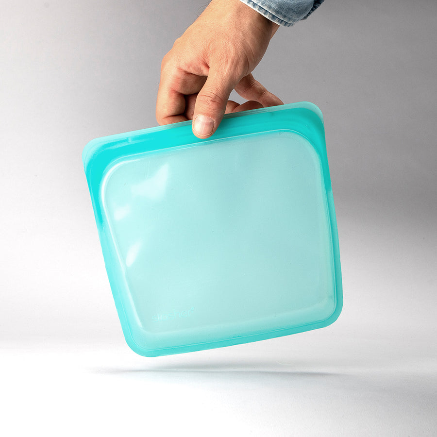 Stasher Bag Silikonepose Opbevaring - Aqua - Sandwich