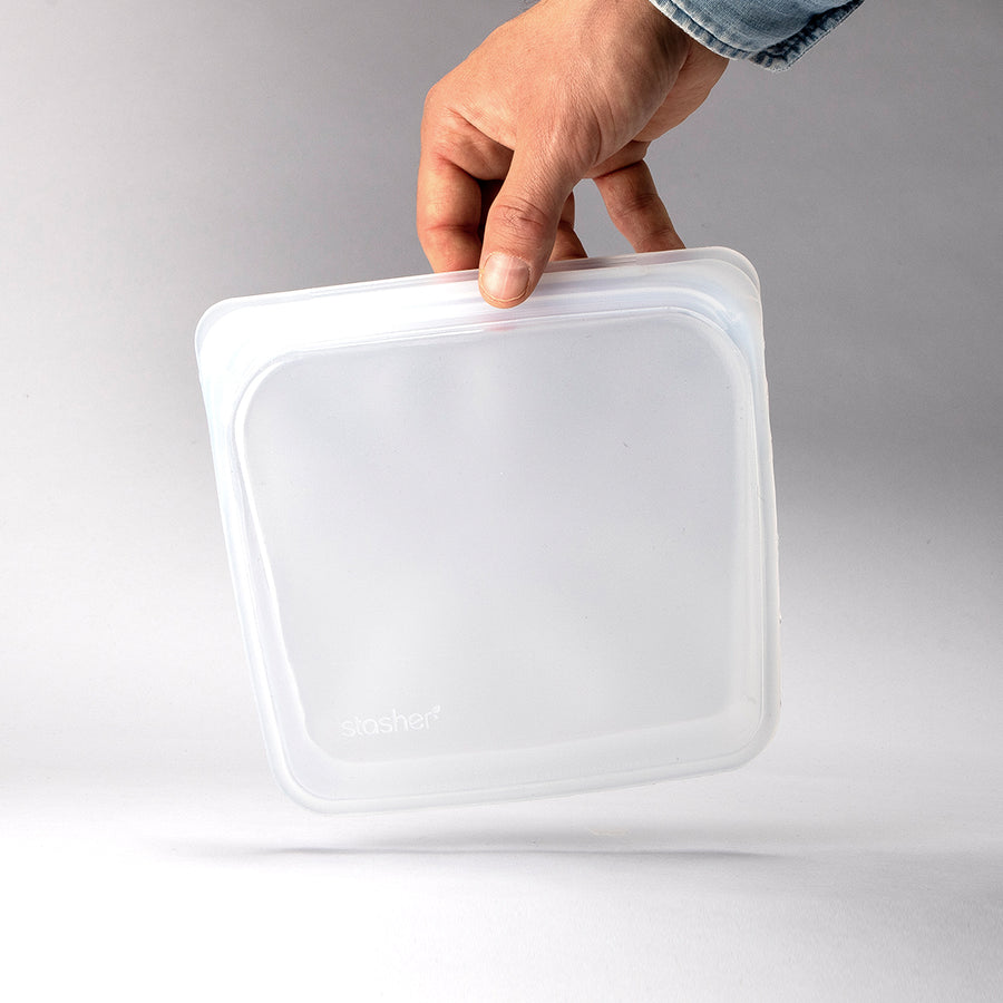 Stasher Bag Silikonepose Opbevaring - Clear - Sandwich