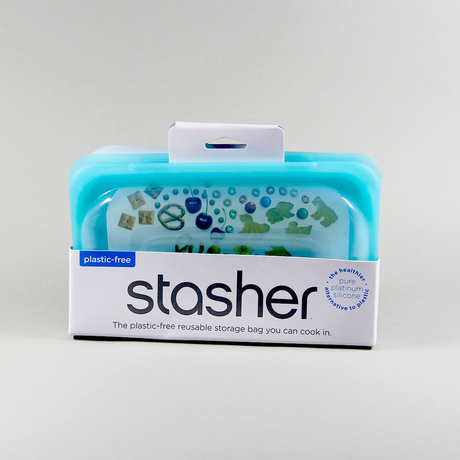 Stasher Bag Silikonepose Opbevaring Aqua Snack