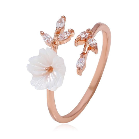 Pearl Flower Ring - PuraVanity