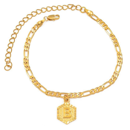 Personalized Initial Letter Anklet - PuraVanity