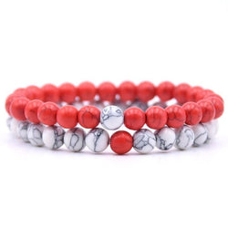 Candy Apple Red Distance Bracelets - PuraVanity