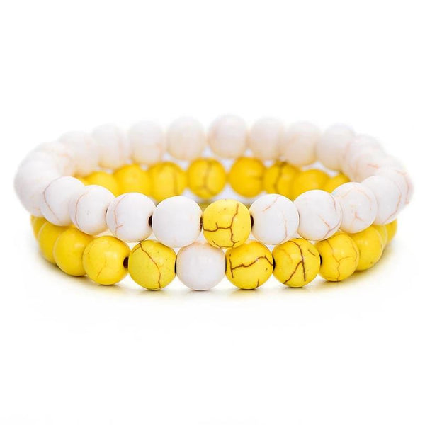 Summer Yellow Distance Bracelets - PuraVanity