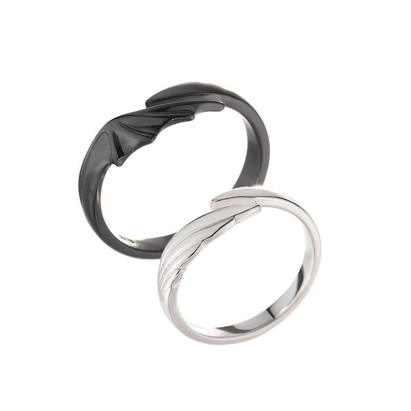 Angel & Devil Divine Couple Ring Set - PuraVanity