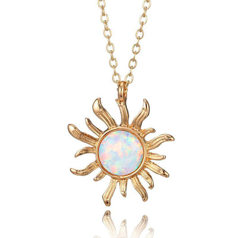 Sunflower Opal Necklace