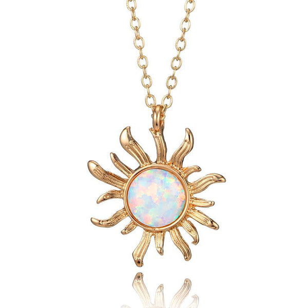 Sunflower Opal Necklace - PuraVanity