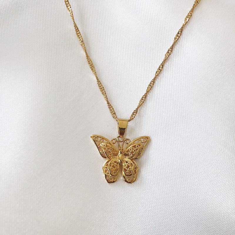 Poise Butterfly Necklace - PuraVanity