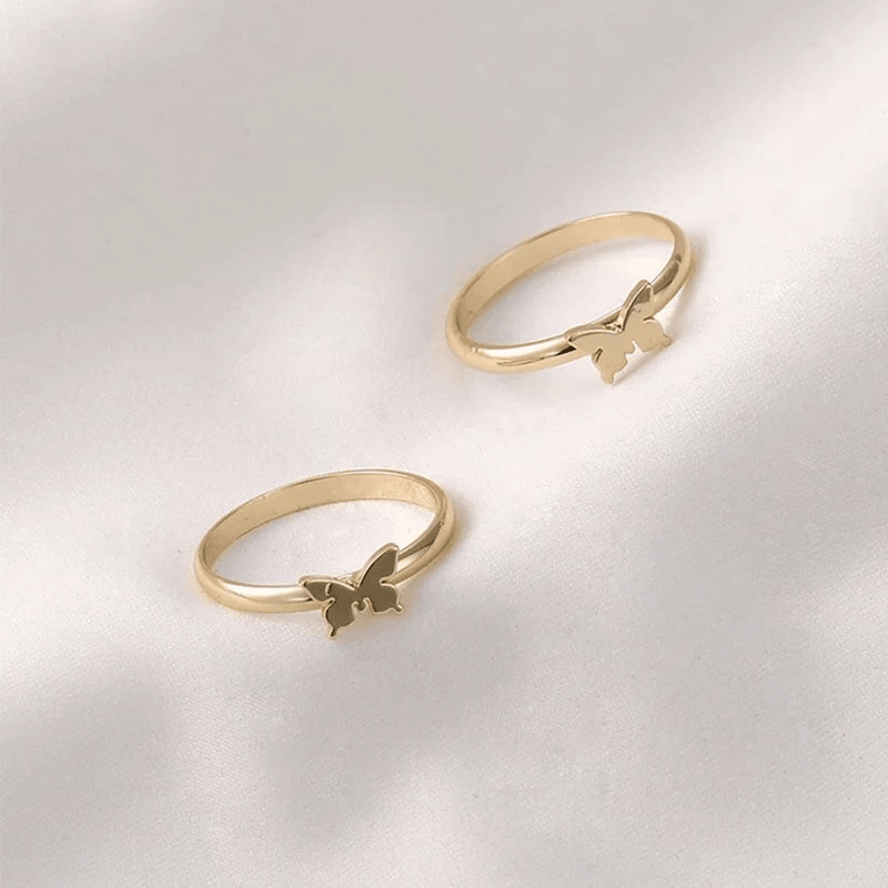 Lovers Butterfly Matching Rings