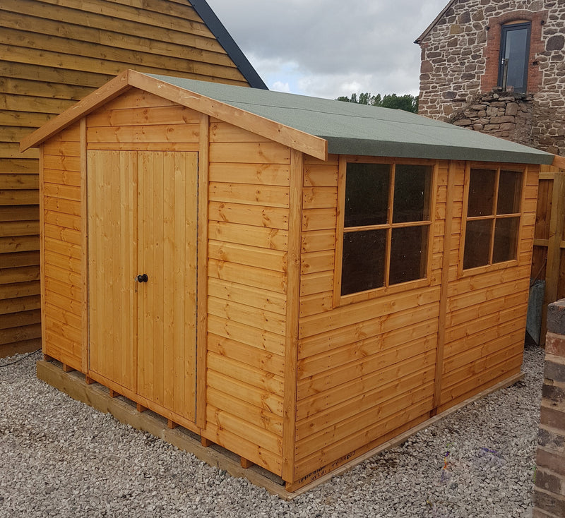 Goodwood Bison Workshop (10' x 10') Professional Tongue and Groove Apex Shed