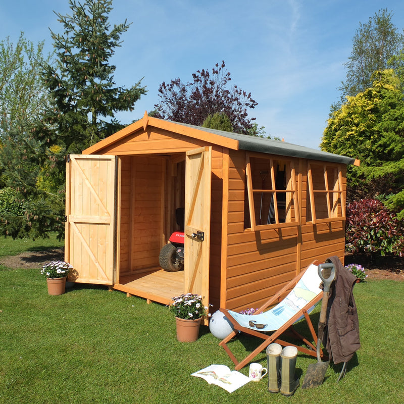 Goodwood Bison Workshop (14' x 8') Professional Tongue and Groove Apex Shed