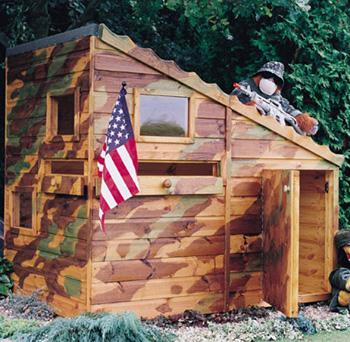 Bunker Playhouse (6' x 4') Garden Play Shed