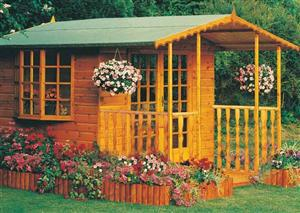 Goodwood Gold Fleur De Lys (8' x 6') Summerhouse