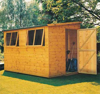 Goodwood Norfolk (10' x 10') Professional Tongue and Groove Pent Shed