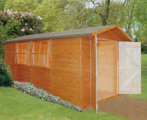 Jersey Apex Garden Shed (7' x 13')