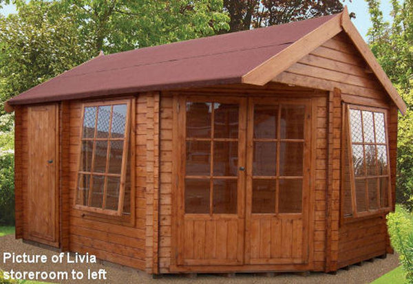 Livia & Ropsley Log Cabin 10G x 14 (2960G x 4340mm) in 28mm Logs