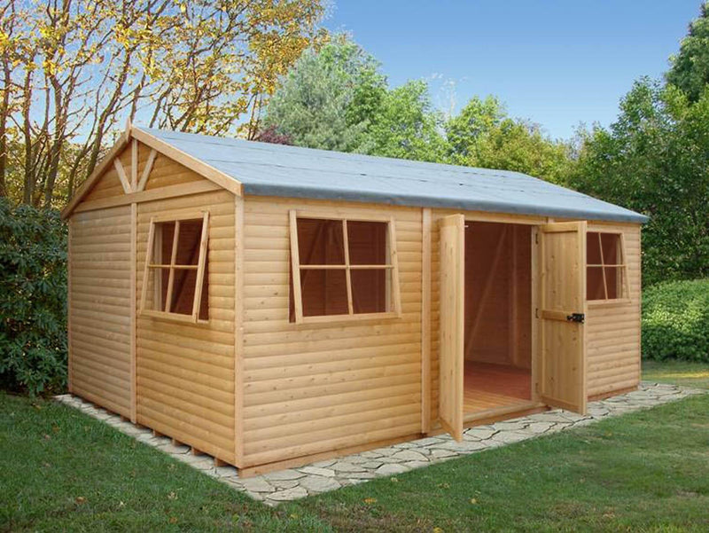 Goodwood Mammoth (12' x 30') Professional Tongue and Groove Apex Shed