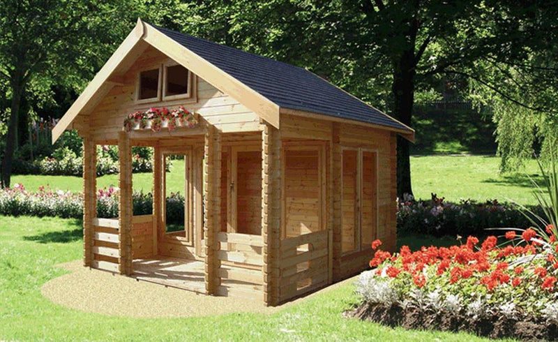 Rockingham Log Cabin 13G x 15' (44mm & 70mm Log Sizes Available)